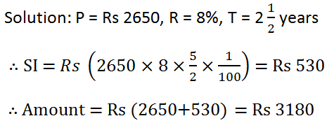 RS Aggarwal Class 7 Math Twelfth Chapter Simple Interest