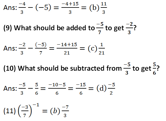 RS Aggarwal Class 8 Math First Chapter Rational Numbers Exercise 1H