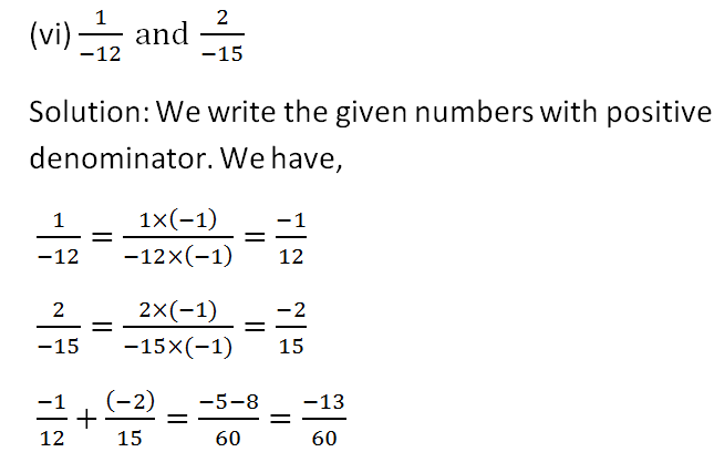 RS Aggarwal Class 8 Math First Chapter Rational Numbers