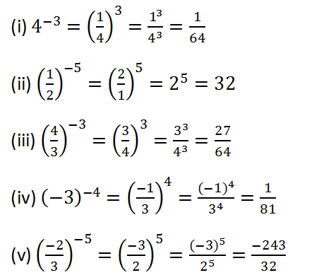 RS Aggarwal Class 8 Math Second Chapter Exponents Exercise