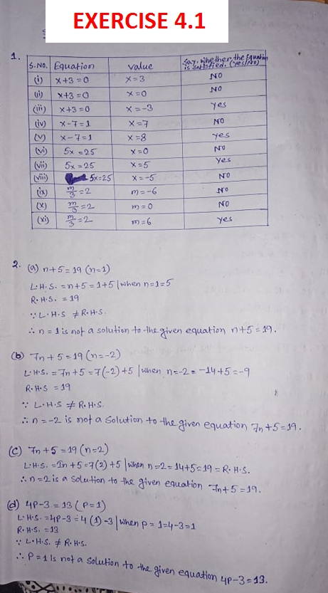 NCERT Class 7 Mathematics Fourth Chapter Simple Equations