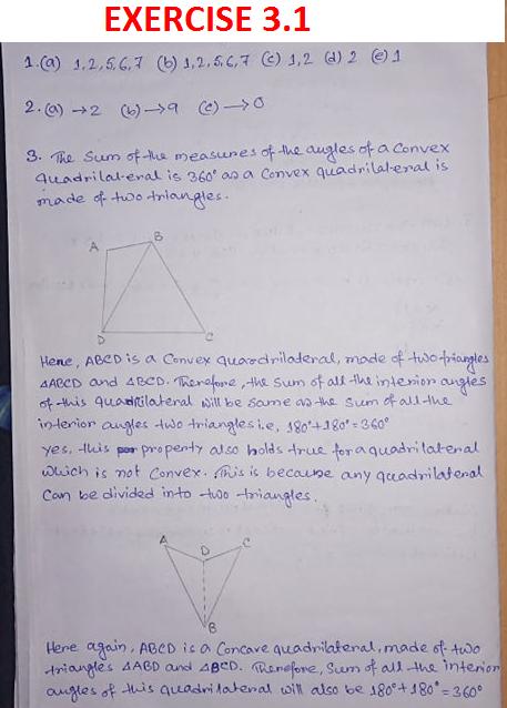 NCERT Class 8 Mathematics Third Chapter Understanding