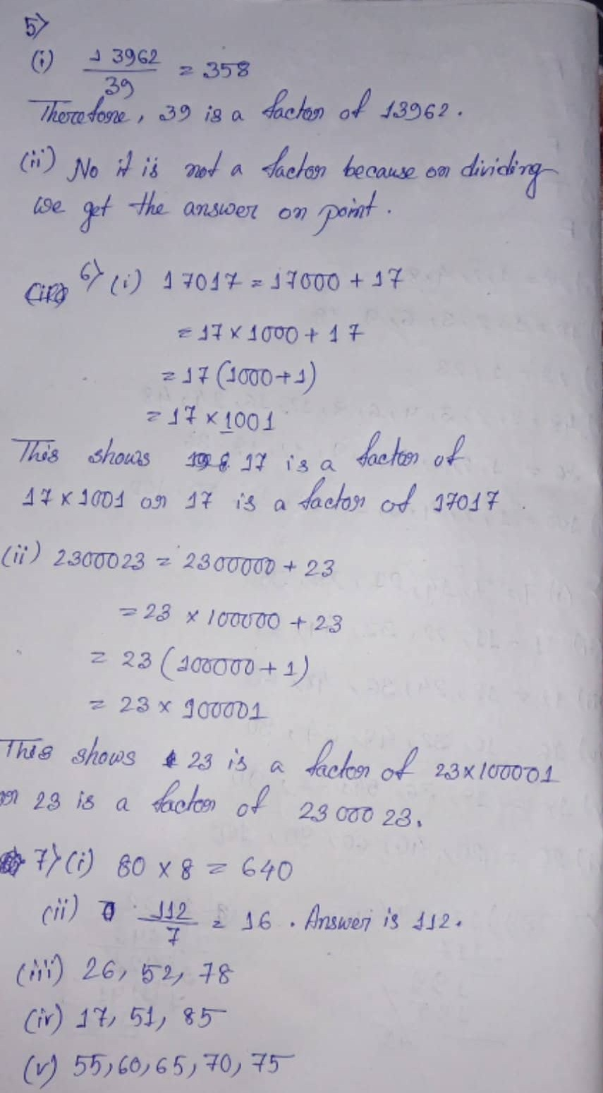 S Chand ICSE Mathematics Class 6 Solution Seventh Chapter Playing